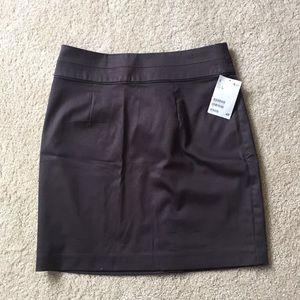 Brown-grey mini skirt